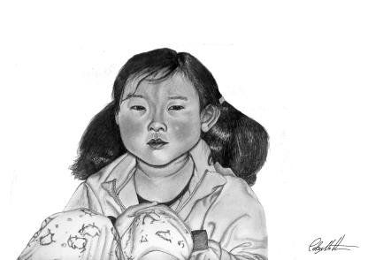 Ayi's daughter. Beijing, China.