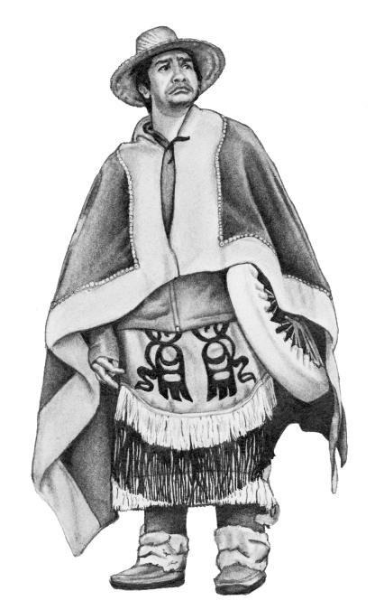 Nisga'a man wearing regalia. Vancouver, B.C.