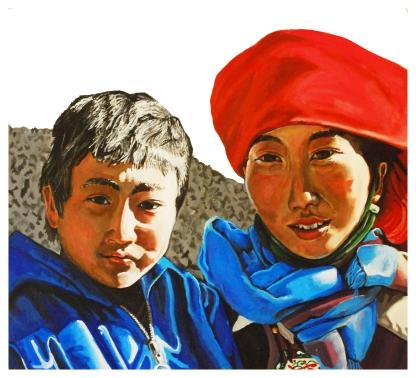 Brother and sister. Zhongdian, Yunnan, China.