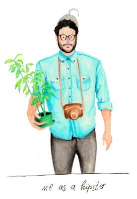 Alternate reality: Me as a hipster